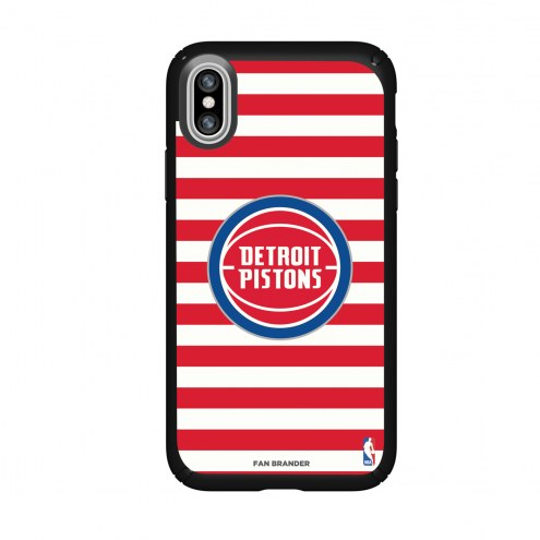 Detroit Pistons Speck iPhone X Presidio Stripes Case