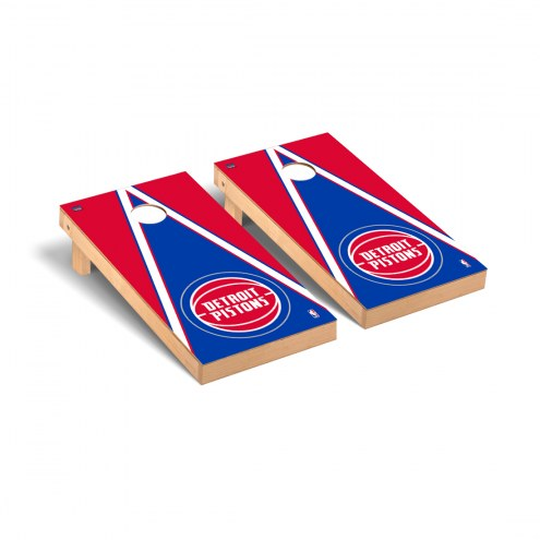 Detroit Pistons Triangle Cornhole Game Set