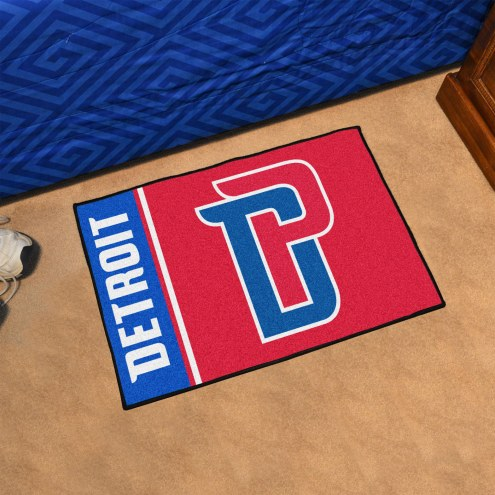 Detroit Pistons Uniform Inspired Starter Rug