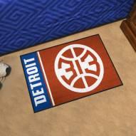 Detroit Pistons Uniform Inspired Starter Rug