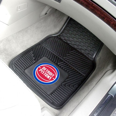 Detroit Pistons Vinyl 2-Piece Car Floor Mats