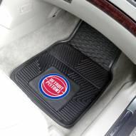 Detroit Pistons Vinyl 2-Piece Car Floor Mats