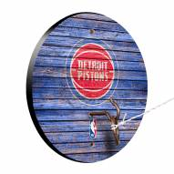 Detroit Pistons Weathered Design Hook & Ring Game