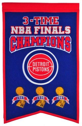 Detroit Pistons Champs Banner