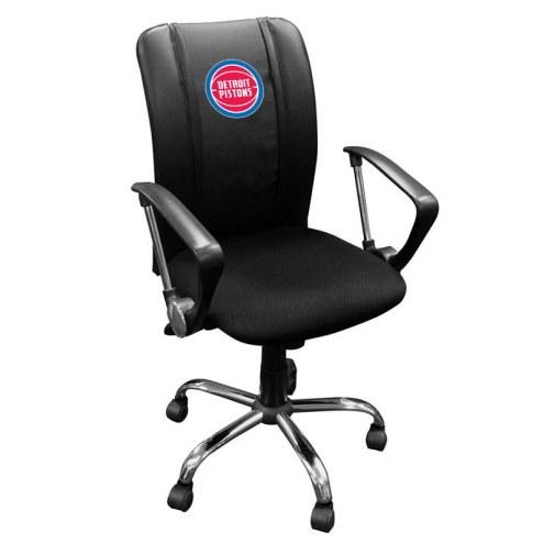 Detroit Pistons XZipit Curve Desk Chair