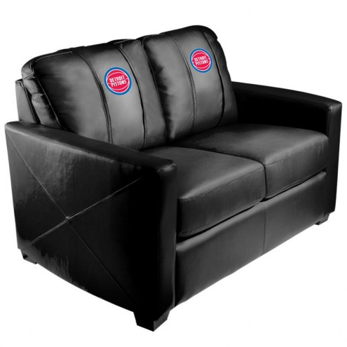 Detroit Pistons XZipit Silver Loveseat