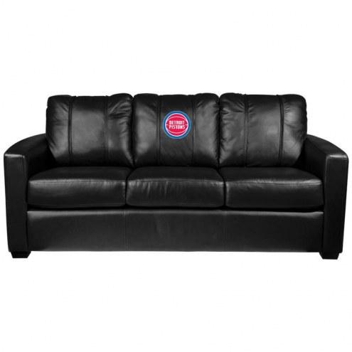 Detroit Pistons XZipit Silver Sofa
