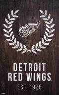 "Detroit Red Wings 11"" x 19"" Laurel Wreath Sign"