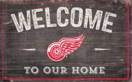 """Detroit Red Wings 11"""" x 19"""" Welcome to Our Home Sign"""