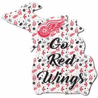 """Detroit Red Wings 12"""" Floral State Sign"""