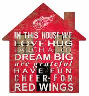 """Detroit Red Wings 12"""" House Sign"""