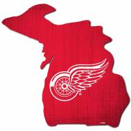 """Detroit Red Wings 12"""" Team Color Logo State Sign"""