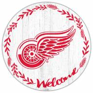 """Detroit Red Wings 12"""" Welcome Circle Sign"""
