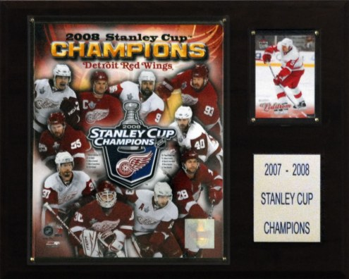 """Detroit Red Wings 12"""" x 15"""" 2008 Stanley Cup Champions Plaque"""