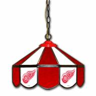 """Detroit Red Wings 14"""" Glass Pub Lamp"""