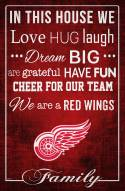 """Detroit Red Wings 17"""" x 26"""" In This House Sign"""