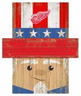 """Detroit Red Wings 19"""" x 16"""" Patriotic Head"""
