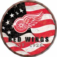 "Detroit Red Wings 24"" Flag Barrel Top"