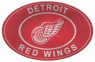 """Detroit Red Wings 46"""" Heritage Logo Oval Sign"""