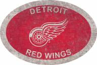 """Detroit Red Wings 46"""" Team Color Oval Sign"""