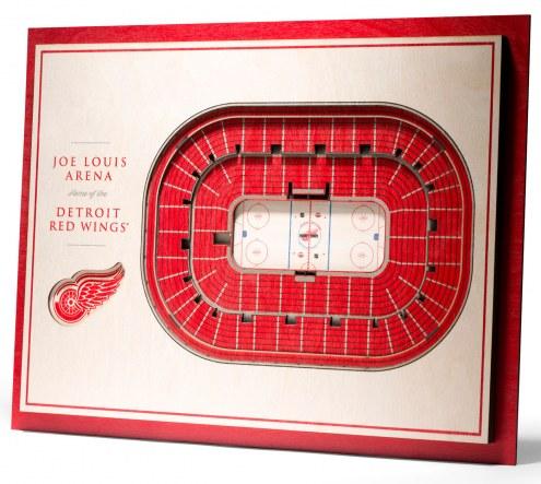 Detroit Red Wings 5-Layer StadiumViews 3D Wall Art