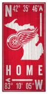 """Detroit Red Wings 6"""" x 12"""" Coordinates Sign"""