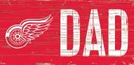"""Detroit Red Wings 6"""" x 12"""" Dad Sign"""