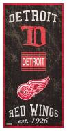 """Detroit Red Wings 6"""" x 12"""" Heritage Sign"""