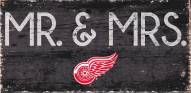"""Detroit Red Wings 6"""" x 12"""" Mr. & Mrs. Sign"""