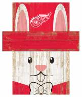 """Detroit Red Wings 6"""" x 5"""" Easter Bunny Head"""