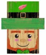 """Detroit Red Wings 6"""" x 5"""" Leprechaun Head"""