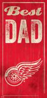 Detroit Red Wings Best Dad Sign