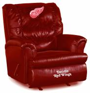 Detroit Red Wings Big Daddy Red Leather Recliner
