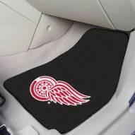 Detroit Red Wings Black 2-Piece Carpet Car Mats