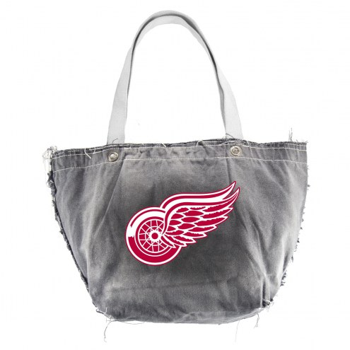 Detroit Red Wings Black NHL Vintage Tote Bag