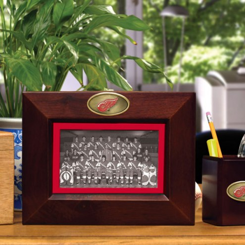 Detroit Red Wings Brown Landscape Picture Frame