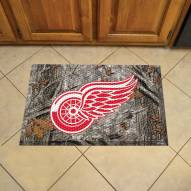 Detroit Red Wings Camo Scraper Door Mat