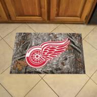 Detroit Red Wings Camo Scraper Door Mat