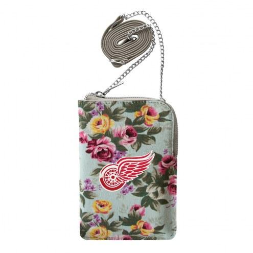 Detroit Red Wings Canvas Floral Smart Purse
