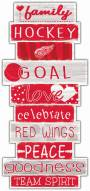 Detroit Red Wings Celebrations Stack Sign