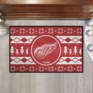 Detroit Red Wings Christmas Sweater Starter Rug
