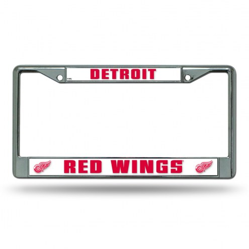 Detroit Red Wings Chrome License Plate Frame