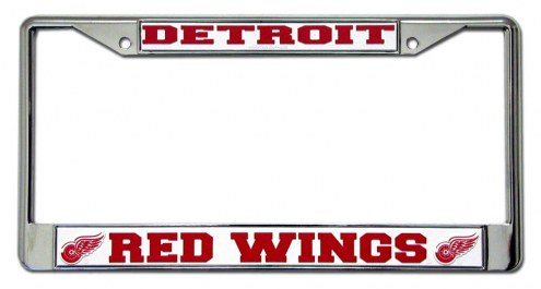 Detroit Red Wings Chrome License Plate Frame