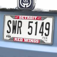 Detroit Red Wings Chrome Metal License Plate Frame