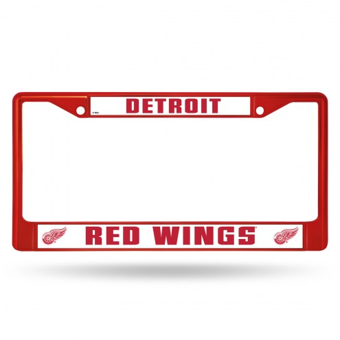 Detroit Red Wings Colored Chrome License Plate Frame