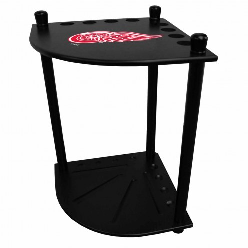 Detroit Red Wings Corner Pool Cue Rack
