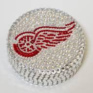 Detroit Red Wings Swarovski Crystal Hockey Puck