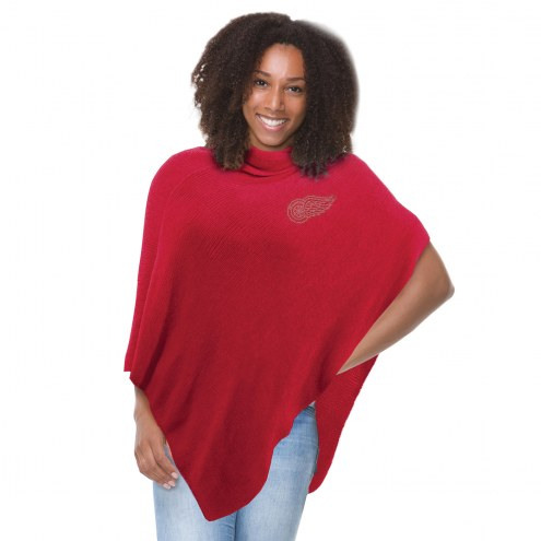 Detroit Red Wings Crystal Knit Poncho