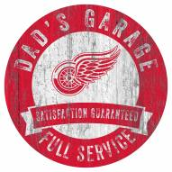 Detroit Red Wings Dad's Garage Sign