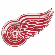 Detroit Red Wings Distressed Logo Cutout Sign